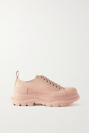 Canvas Exaggerated-sole Sneakers - Antique rose