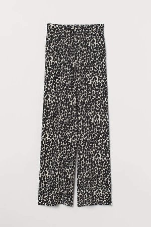 Wide-cut Jersey Pants - Beige