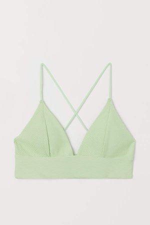 Padded Triangle Bikini Top - Green