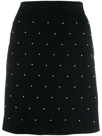 Sandro Paris | pearl-embellished quilt skirt