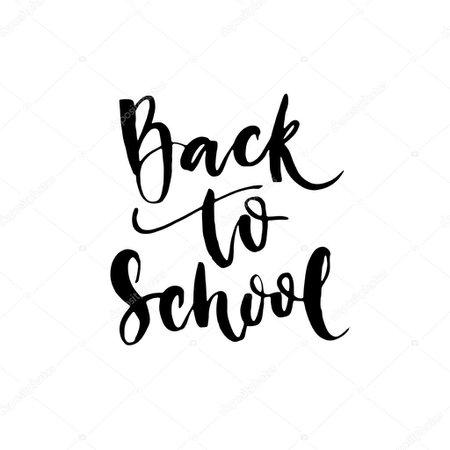 Back to school - lettering calligraphy phrase. — Stock Vector © Ksu_Ganz #123805920