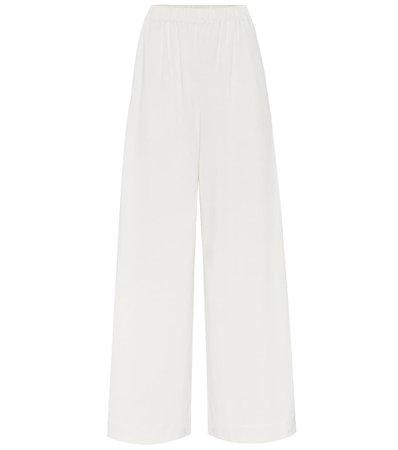 High-Rise Cotton-Jersey Wide Pants - Joseph | Mytheresa