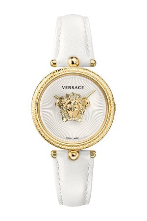 Versace | Women's Palazzo Empire White Leather Watch, 34mm | Nordstrom Rack