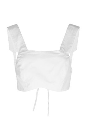 Delilah Cotton Crop Top by Sir The Label