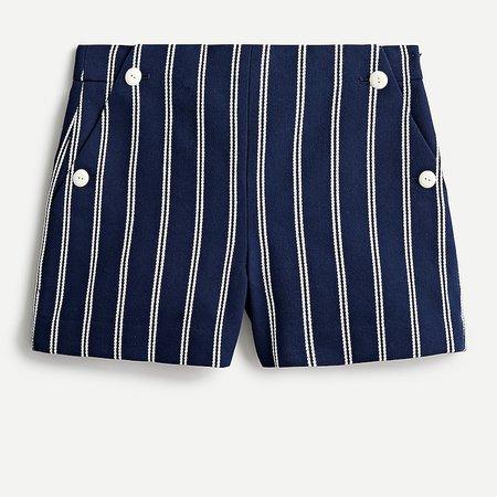 J.Crew: High-rise Sailor Short In Stripe For Women