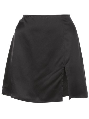 Reformation Robbie Fitted Mini-Skirt 1304762BLK Black | Farfetch
