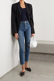 Blue Danielle high-rise straight-leg jeans | Khaite | NET-A-PORTER