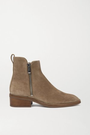 Alexa Suede Ankle Boots - Light brown