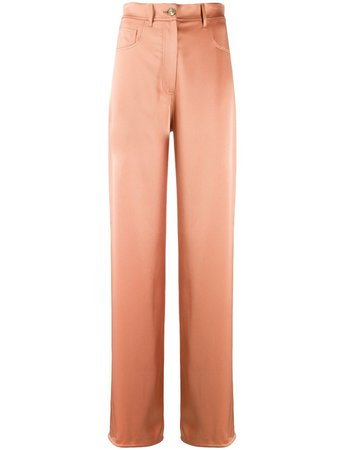 Shop orange Nanushka Drew straight leg trousers with Express Delivery - Farfetch