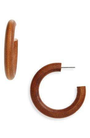 BP. Wood Hoop Earrings   Nordstrom