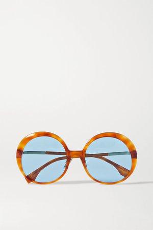 Tortoiseshell Round-frame tortoiseshell acetate sunglasses | Fendi | NET-A-PORTER