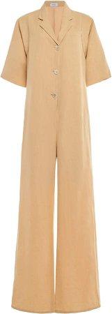 Salvatore Ferragamo Linen-Blend Jumpsuit Size: 40