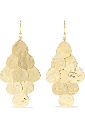 Ippolita | Crinkle Petal Cascade 18-karat gold earrings | NET-A-PORTER.COM