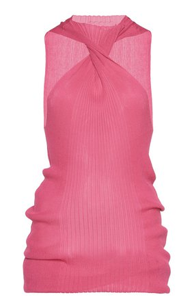 Twisted Ribbed Cotton-Blend Tank Top by Bottega Veneta | Moda Operandi