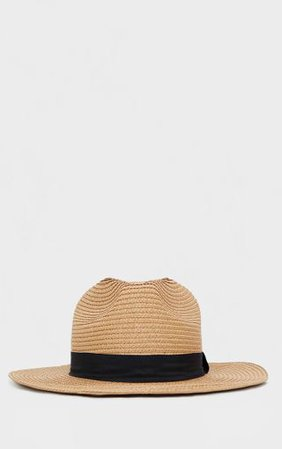 Straw Trilby Hat | Accessories | PrettyLittleThing
