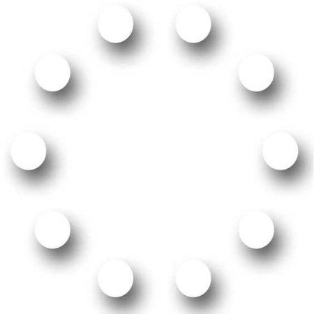 Circle of Shadow Dots - Pinterest