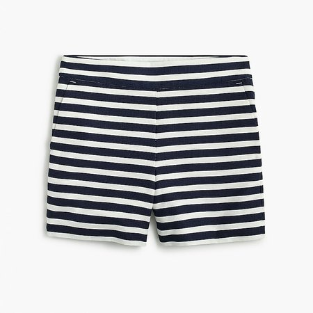 J.Crew Factory: Striped Basketweave Short With Side Zip For Women