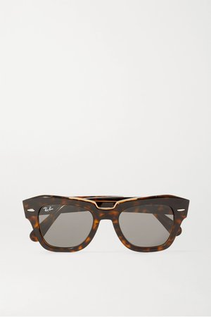 Tortoiseshell Wayfarer square-frame tortoiseshell acetate sunglasses | Ray-Ban | NET-A-PORTER