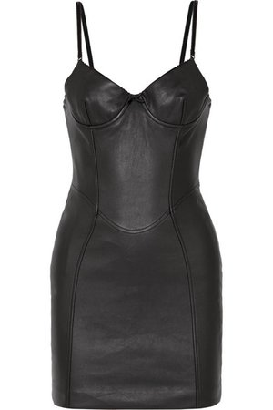 Alexander Wang | Leather mini dress | NET-A-PORTER.COM