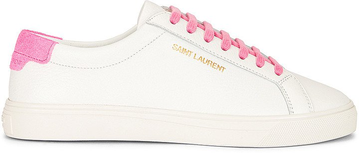 Lace Up Sneakers in White & Pink | FWRD