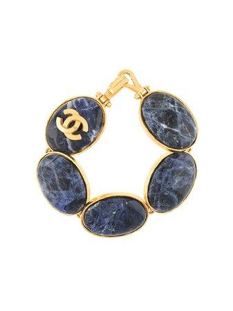 "Chanel ""95 Stone Logo Bracelet"