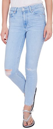 Hoxton Ripped High Waist Ankle Skinny Jeans