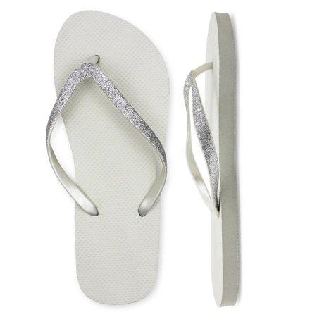 Lavra - Women's Casual Glitter T-Strap Thong Summer Flip Flop Sandals - Walmart.com - Walmart.com