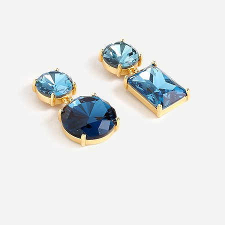 J.Crew: Mismatched Crystal Drop Earrings For Women
