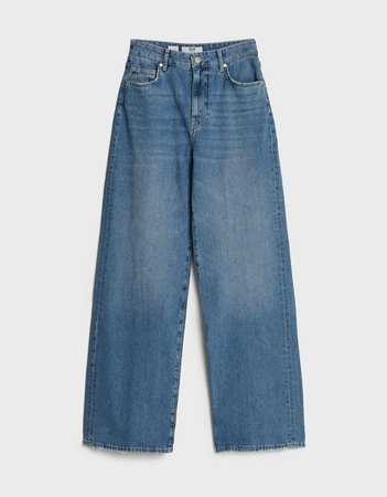 Wide leg jeans - Denim - Woman | Bershka
