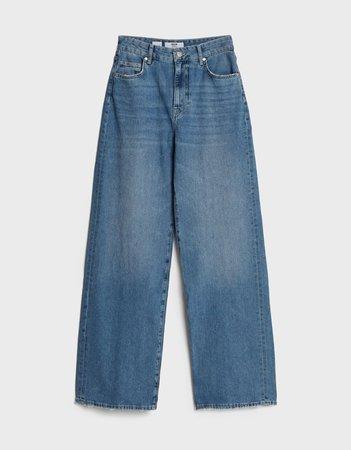 Wide leg jeans - Denim - Woman   Bershka