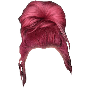 pink hair png bun