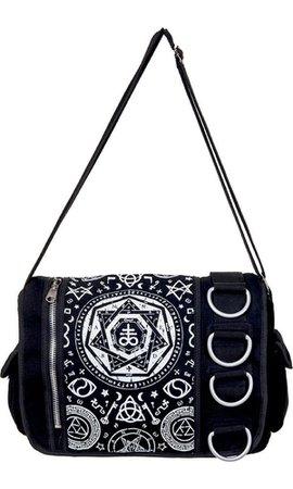 Banned Apparel Pentagram Black Messenger Bag Handbag - Buy Online Australia – Beserk