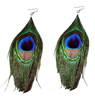 peacock feather earrings - Google Search