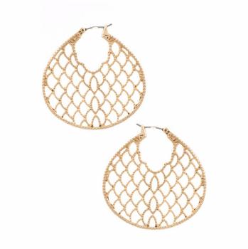 Cutout Gold Earrings