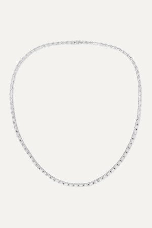 White gold 18-karat white gold diamond necklace | Anita Ko | NET-A-PORTER