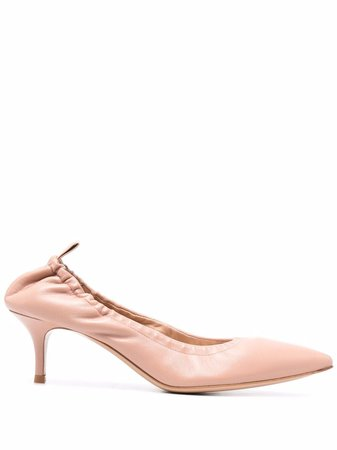 Gianvito Rossi polished-finish pointed-toe pumps - FARFETCH