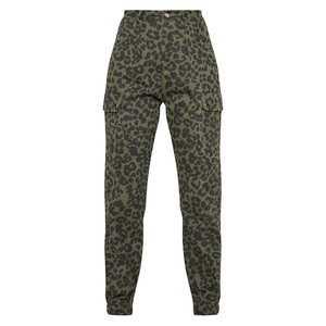 Green Cheetah Print High Waisted Pants