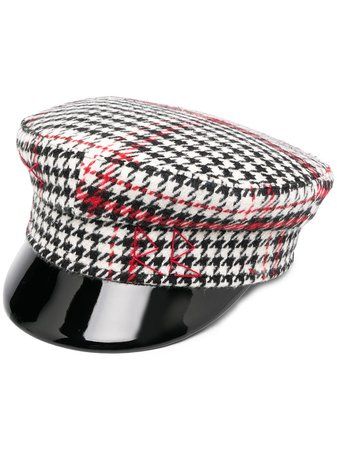 Ruslan Baginskiy Tartan Baker Boy Hat - Farfetch