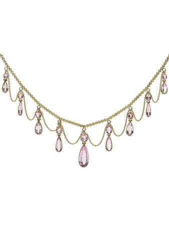 pink&gold necklace
