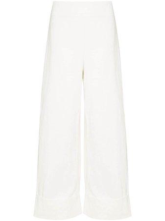 St. Agni, Sade wide-leg cropped trousers