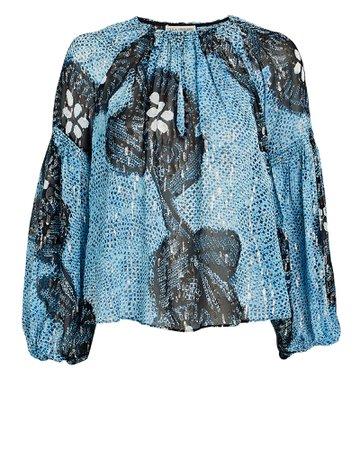 Ulla Johnson Sanya Silk-Lurex Blouse | INTERMIX®