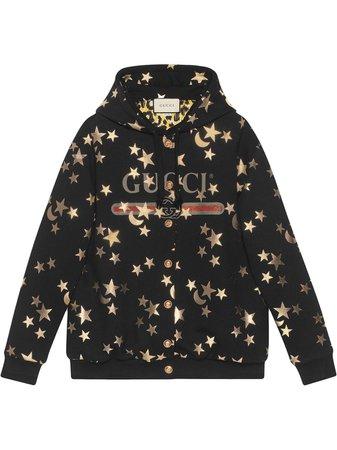 Gucci Stars And Moon Print Hoodie   Farfetch.com