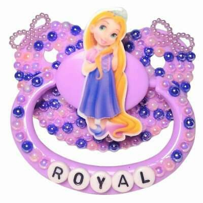 "Baby Bear Pacis Adult Pacifier, ""Royal"" Purple Rapunzel Adult Paci (DDLG/ABDL) 
