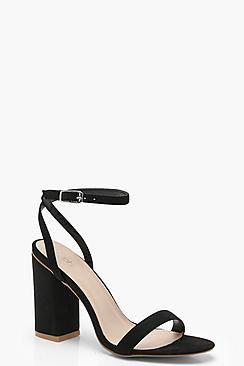 Ava Wrap Strap Block Heels