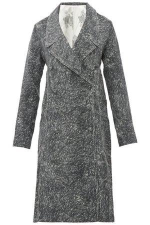 Charles Jeffrey Loverboy Scribble Side Pleat Cotton Twill Coat Dress - Womens - Multi