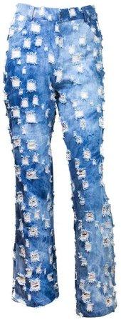 Vivienne Hu Light White Washed Denim Jeans