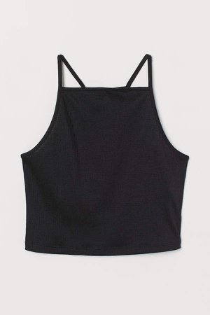 Short Camisole Top - Black