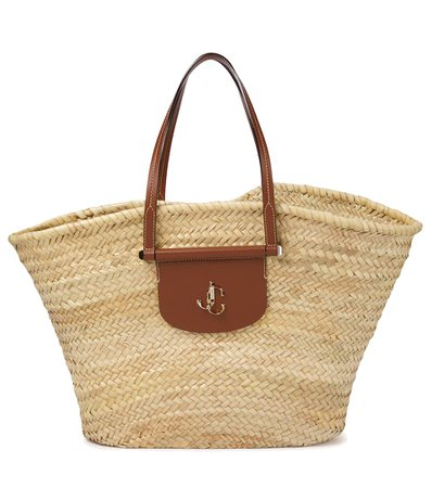 Jimmy Choo - Macy Medium raffia tote | Mytheresa