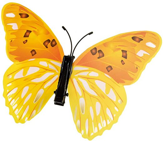 DreamLily 12 Pieces Butterfly Hair Clips for Halloween Costume Colorful 3D Butterfly Metal Barrettes Photo Props Party Favors BTY01 (Yellow) at Amazon Women's Clothing store