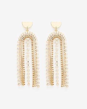 U Drop Chain Earrings | Express